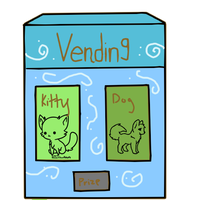 Vending Machine For Kitties n Puppies! by conwolf