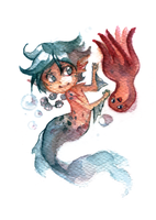 The Little Merman by Anyarr