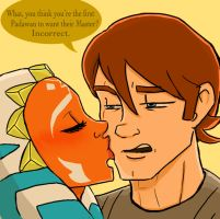 Anakin and Ahsoka: Incorrect. by thehaydenclone