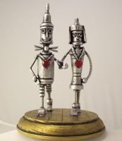 Oz Tin Man Wedding Cake Topper by buildersstudio