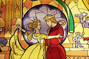Beauty and the Beast Vitrail by Mlle-Dreamer