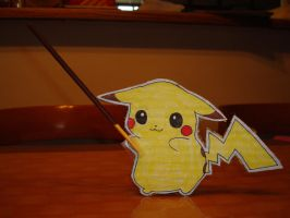 Pikachu With a Pocky Stick by tinani81600