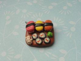 Cute Clay Sushi Plate by CraftyOlivia