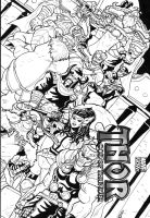 Thor God of Thunder sketch cover by Marvin000
