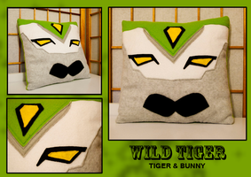 Wild Tiger Hero Pillow by FlairtotheSky
