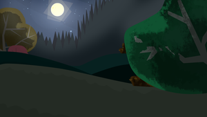 Total Drama Background - Night Forest by MiguelAmshelo