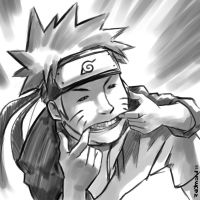 sketch of naruto by aerlixir