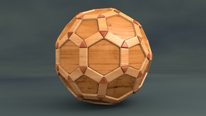 Wooden Puzzle Ball by mlindeart