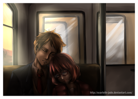 Traveling in the train by B-Griveros