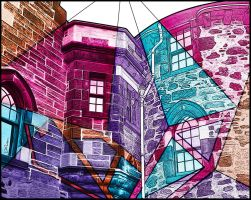 Colorful and peculiar butterfly's wall by Ventapane