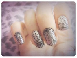 Spiderweb Nails by Wolfeyes899