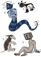Creature Adopts (Closed) by TheGhoulAvenue