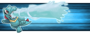 Totodile Banner by PokeChibiArtist98