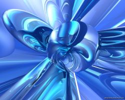 Blue Abstract2 by VickyM72