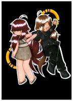 Beta and Eevee by Lady-Echo