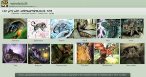 2011 Summary of Art by animalartist16