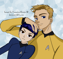 Kirk and Spock by FumetsuShinju
