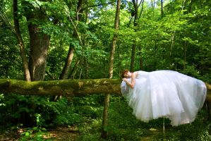 Sleeping Forest Bride by environaut
