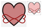 Infinity Heart Embroidery file by Moongoyal
