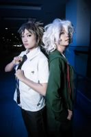 SuperDanganRonpa2 cosplay- Komaeda and Hinata by Rii-ki-AruxKol