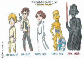 Characters' Doodle of the Day - Star Wars Day by FelixToonimeFanX360