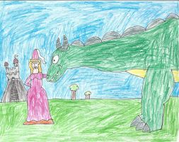 a Princess and her pet dragon AT by trexking45