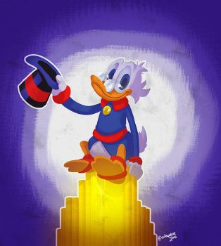 Good night Uncle Scrooge by SupaCrikeyDave