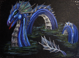 ACEO Sea Serpent by jacij