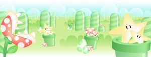 Mario dual screen wallpaper by bertus-