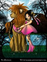 The Girl and The Lion+Kiriban+ by Marira