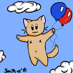 Flying Puddy Tat by irot