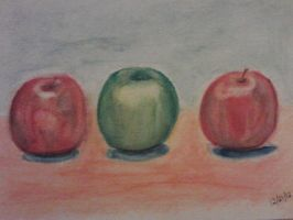 Watercolor Apples by cherryblossom461