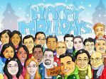 Commission - Company Holiday Card by gwendy85