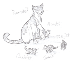 WFC+a Queen and her kits+ by min-mew