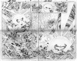 Green lantern 41 double page by eddybarrows
