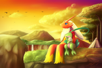 The Sunset View : Commission for Akiyama64 by streetdragon95