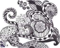 zentangle 1 by absinthe50