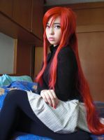 Erza Scarlet - Best Magic Games - Normal Clothes by juliettebelle