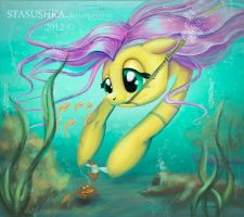 Fluttershy: kindness without borders by Stasushka