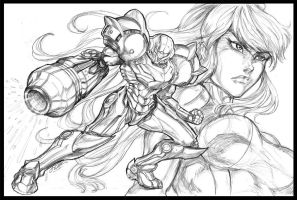 Samus Commish by CdubbArt