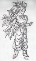Goku - Sketch #6 by Jaylastar