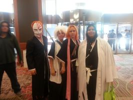 Group Cosplay of Bleach by Jovianwolfgirl