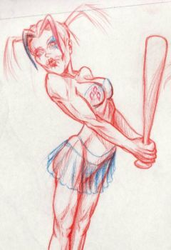 Harley with bat (study 2) by yomark