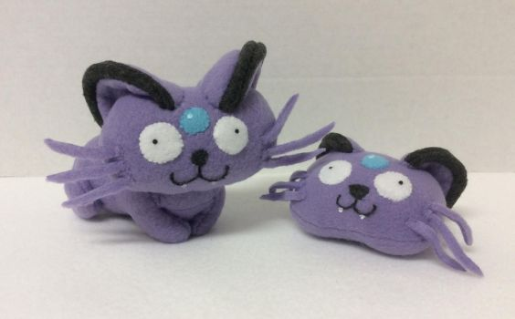 An Alolan Persian and his Former Head by FandomFactoryPlushes