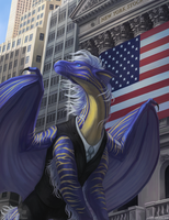 Wall Street Dragon (no text) by Bluehasia
