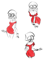 Nicky red dress by Rogerbacon