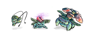 Family Bulbasaur by RottenAvocado