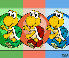 Koopa Troopa - All Colours by Tails19950