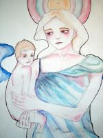 angel and child embrace 2 by orange-peel-eater