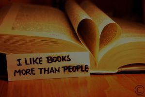 Books vs. people by Sashay007